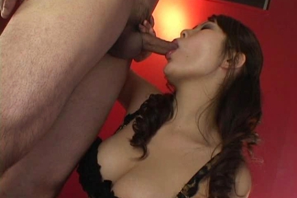 Sayaka Minami Asian doll gives a double blowjob