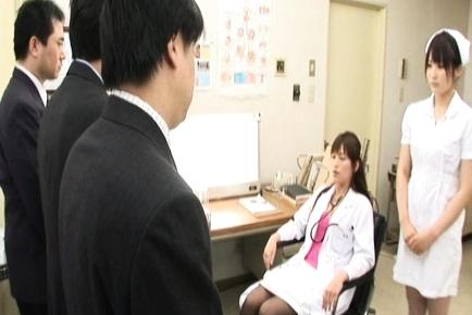 Rika Nagasawa and Mao Sakurai Hardcore Asian nurses like sex