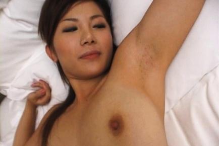 Rena Nagai Asian racequeen is enjoying her sexy lingerie