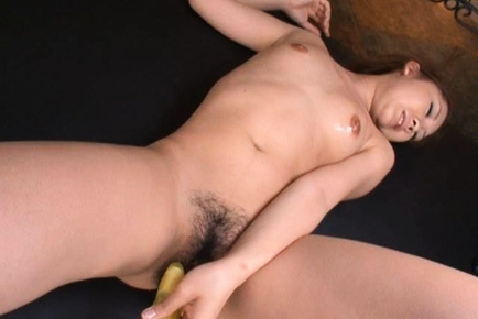 Karin Tsubaki Asian model is getting her hairy pussy poked
