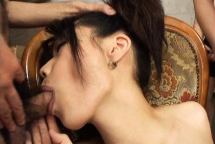 Miki Uehara Naughty Japanese model sucks cock and gets fingered