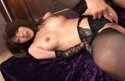 Miho Imamura enjoys a really hard fucking while she wears her sexy black lingerie
