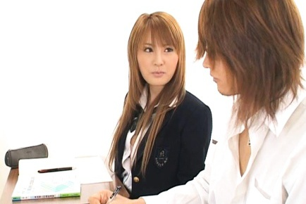 Teacher and student fuck gorgeous schoolgirl Momo