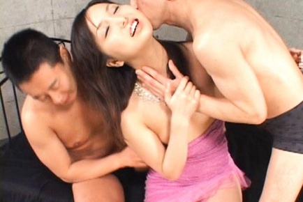 Horny Rio Nakumara takes part in wild group sex