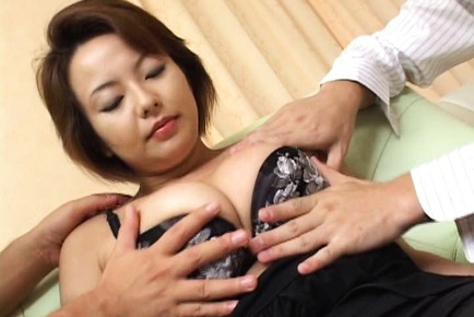 Hot mature Rio Kurusu takes two cocks and gets a vibrator in her cunt.