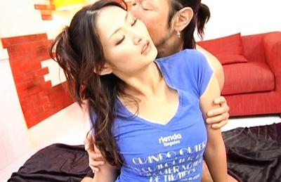 Risa Murakami Hot Asian model gets creampie