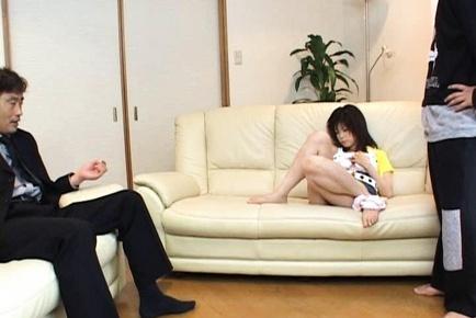 Kurumi Katase Hot Asian doll sucks cock