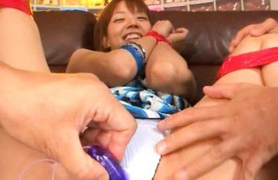 Akina Ishiki group toy orgy sex!