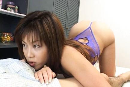 Yuka Matsushita Sucks Dick And Licks Balls For Cum
