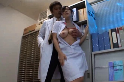 Japanese girl is busty and enjoying sex