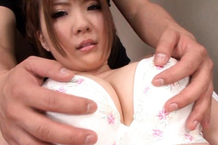 Momoka Nishina Asian model has super sized boobs