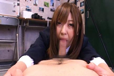 Cute Japanese schoolgirl oral sex Mina Minamoto