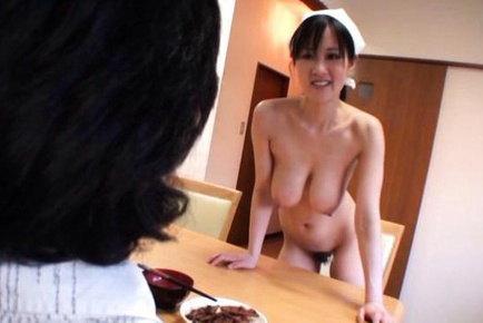 Big titted housewife Sayuki Kanno works his shaft with her tits