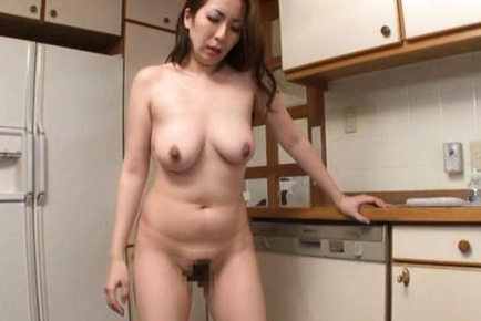 Mature Aoi Aoyama gets creampied while trying to be quiet