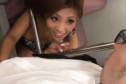 Busty Japanese hottie Yu Sakura pleases horny stud