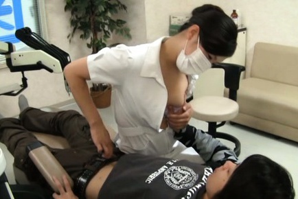 Hot Asian female dentist gets seduced and screwed hard