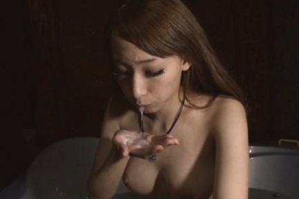 Blonde Asian babe Claire Hasumi pleases hunk