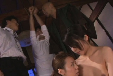 Japanese beauty has hot group sex in kinky party