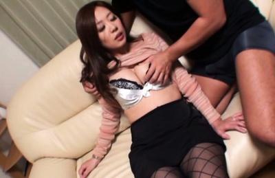 Kaori enjoys having her pussy nailed right 1
