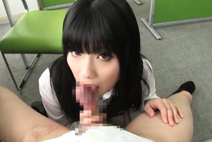 Chika Hirako hot Japanese office girl gives head