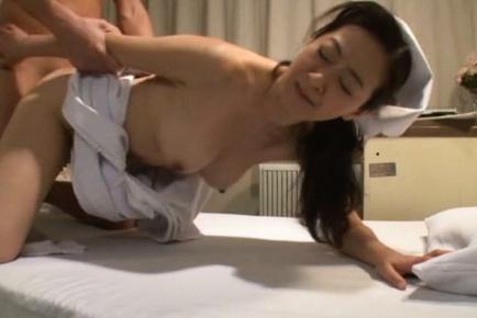 Sexy mature Japanese nurse gets wild of hardcore banging