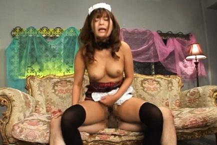 Hot MILF Satou Haruka in doggy-style sex