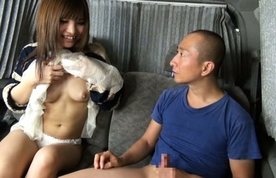 Attractive Japanese AV model makes a perfect handwork