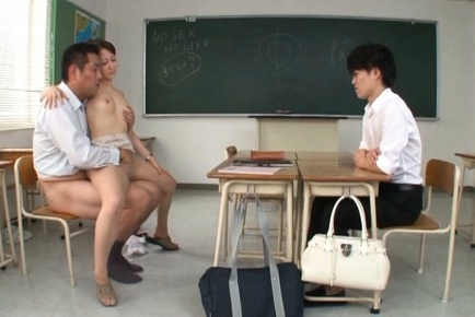 Young Asian babe Yuu Kawkami gets banged by her teacher