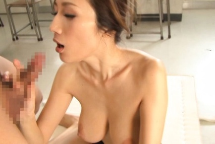 Busty Asian teacher Julia gets nailed and splashed with cum