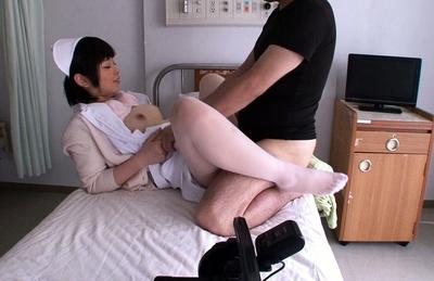 Nasty Nurse Ayase Mashiro gets ravaged by horny patient