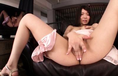 Solo masturbation adventure with naughty Kokoha Mizuki