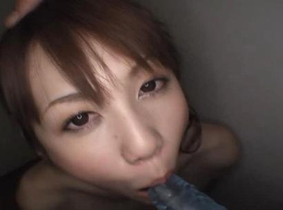 Erika Kirihara Horny Asian model enjoys her dildo for practice