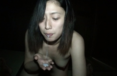 Sex-starved Asian chick Chikusa Matsuyama plays with cock and dildo