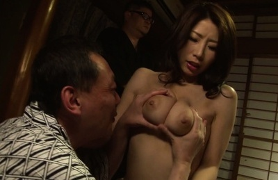 Beautiful Asian stunner Momo Watanabe banged by three dudes