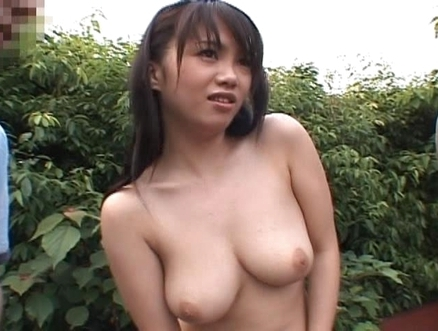 Mai Nadasaka Sweet Asian doll enjoys showing off her body outside