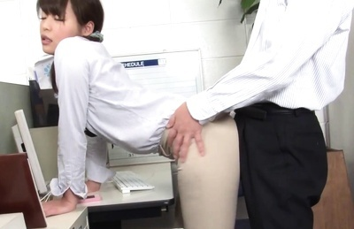 Hot office lady Ruri Jouta gets seduced at her working place gives a blow