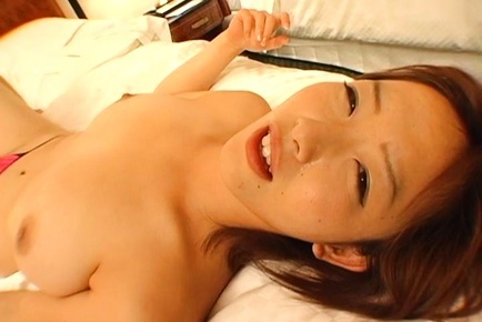 Frisky Japanese milf with big tits Naho Kuroki in a threesome sex game