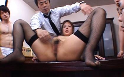 Aya Matsuki Kinky Asian doll in office bukkake