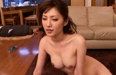 Busty Japanese milf Tsubasa Amami involved into a crazy threesome action