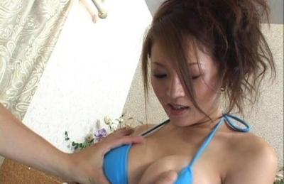 Yuki Tuoma Asian girl has big tits and enjoys sucking cock
