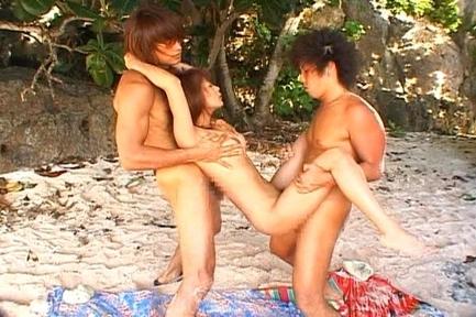 Honoka Sexy doll enjoys outdoor gangbang sex